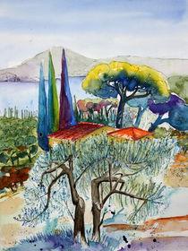 Olivenbaum am Gardasee von Inez Eckenbach-Henning