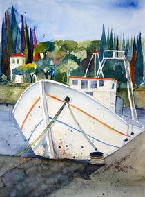 Boot im Hafen von Inez Eckenbach-Henning
