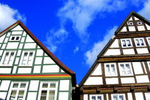 Fachwerkhäuser -Typical german Framework Buildings  Northern Germany 2 by Eddie Scott