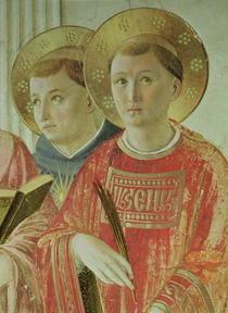 Die Schattenmadonna, Detail von Fra Angelico