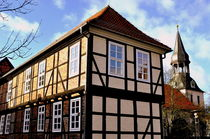 Fachwerkhäuser -Typical german Framework Buildings  Northern Germany 9 by Eddie Scott