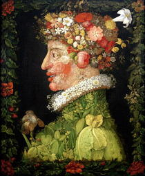 Spring, from a series depicting the four seasons by Giuseppe Arcimboldo