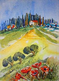 Toskana Landschaft von Inez Eckenbach-Henning