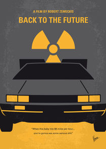 No183 My Back to the Future minimal movie poster-part I von chungkong