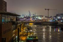 Blick auf den Hamburger Hafen von Dennis Stracke