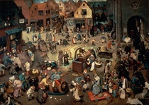 Fight between Carnival and Len by Pieter Brueghel the Elder