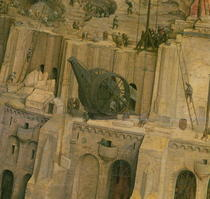 The Tower of Babel, detail of construction work by Pieter Brueghel the Elder
