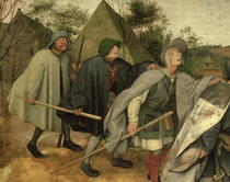 Parable of the Blind, detail of three blind men by Pieter Brueghel the Elder