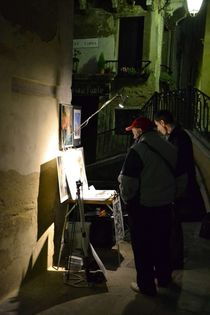 Artists Working Late - Venice von OG Venice Italy Travel Guide