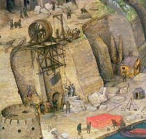 The Tower of Babel, detail of the construction works by Pieter Brueghel the Elder