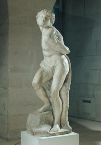 The Rebellious Slave by Buonarroti Michelangelo