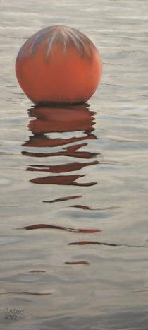 Buoy at dusk by Oliver  Kohls