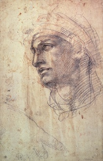 Study of a Head by Buonarroti Michelangelo