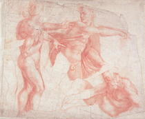 Studies of Male Nudes  by Buonarroti Michelangelo
