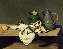Still Life with a Kettle by Paul Cezanne