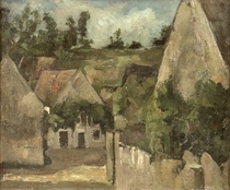 Crossroads at the Rue Remy, Auvers by Paul Cezanne