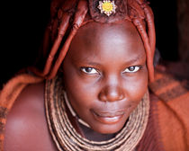 Himba Woman with Slight Smile by Matilde Simas