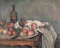 Still Life with Onions by Paul Cezanne