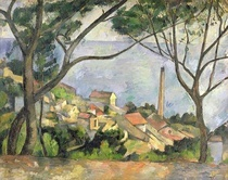 The Sea at l'Estaque by Paul Cezanne