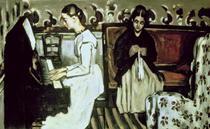 Mädchen am Klavier von Paul Cezanne