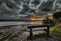 Sunset on the River Taw von Dave Wilkinson
