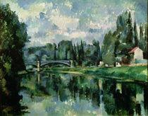 Die Ufer der Marne bei Creteil von Paul Cezanne