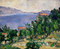 View of Mount Marseilleveyre and the Isle of Maire von Paul Cezanne