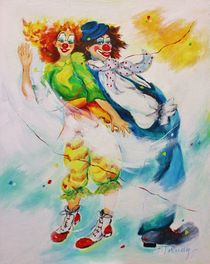 Clowns Jil und Jo by Barbara Tolnay