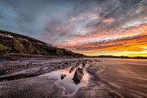 Winter sunrise, Saunton Sands von Dave Wilkinson