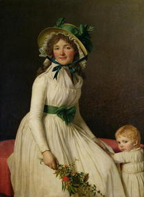 Madame Pierre Seriziat with her Son, Emile by Jacques Louis David