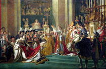 The Consecration of the Emperor Napoleon and the Coronation of t