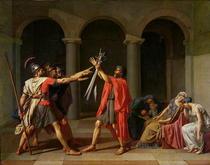 Schwur der Horatier von Jacques Louis David