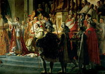 The Consecration of the Emperor Napoleon (1769-1821) and the Cor by Jacques Louis David