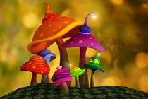 Whimsical Mushrooms von Liam Liberty