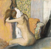 After the Bath, Woman Drying her Neck by Edgar Degas