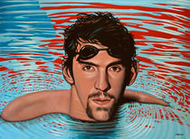 Michael Phelps painting von Paul Meijering