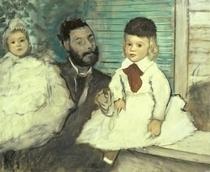 Comte Le Pic und seine Söhne von Edgar Degas