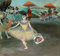 Dancer with bouquet, curtseying by Edgar Degas