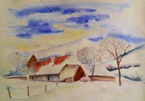 Schwarzwaldhaus im Winter von Theodor Fischer