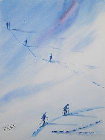 Skiwanderung bei La Plagne by Theodor Fischer