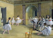 The Dance Foyer at the Opera on the rue Le Peletier von Edgar Degas