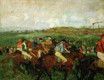 Gentlemen race. Before the Departure by Edgar Degas