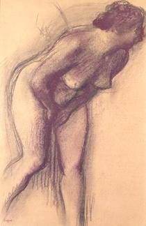 Stehender Frauenakt von Edgar Degas