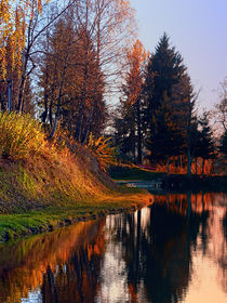 Romantischer Herbstabend am Badesee 4 | Landschaftsfotografie by Patrick Jobst