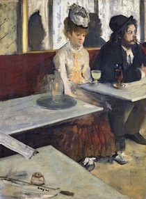 In a Cafe, or The Absinthe by Edgar Degas