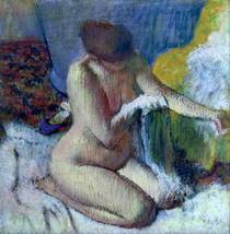Nach dem Bad von Edgar Degas