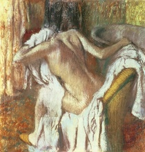 Sich abtrocknende Frau von Edgar Degas