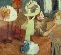 Das Hutgeschäft von Edgar Degas