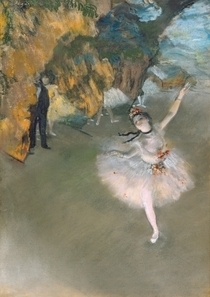 The Star, or Dancer on the stage by Edgar Degas