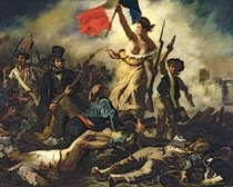 Liberty Leading the People by Ferdinand Victor Eugèn  Delacroix